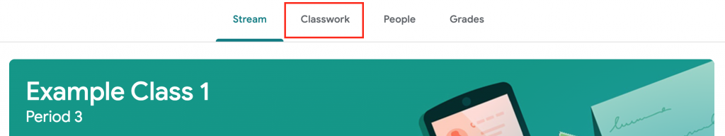 classwork tab